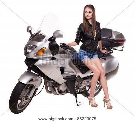 Sexy girl on motobike