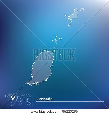 Map of Grenada - vector illustration