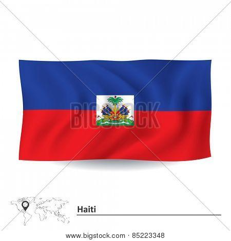 Flag of Haiti - vector illustration