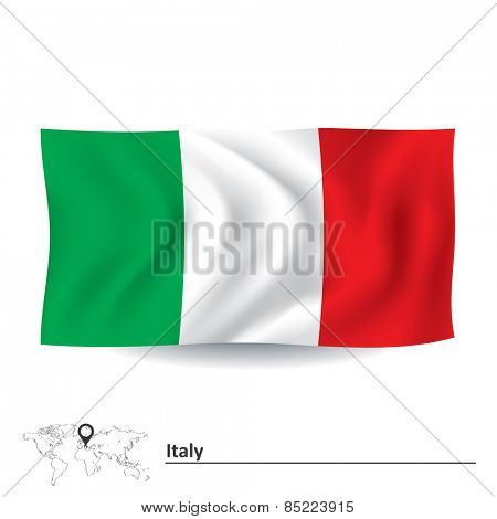 Flag of Italy - vector illustration