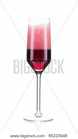 red champagne glass
