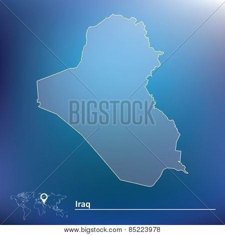 Map of Iraq - vector illustration