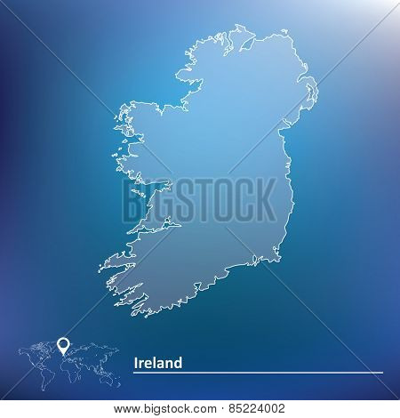 Map of Ireland - vector illustration