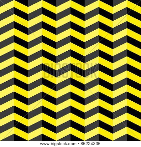 Black & yellow chevron seamless pattern