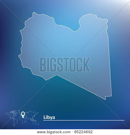 Map of Libya - vector illustration