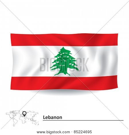 Flag of Lebanon - vector illustration