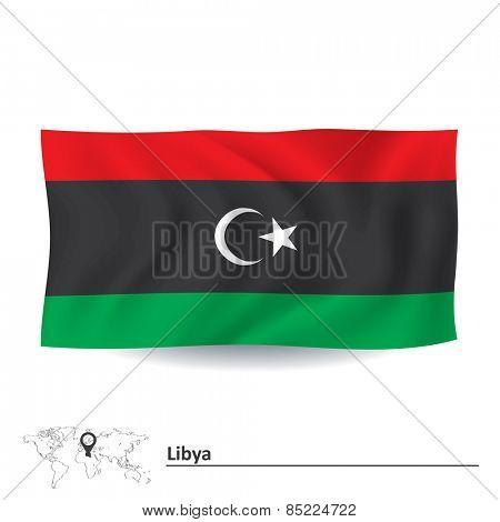 Flag of Libya - vector illustration