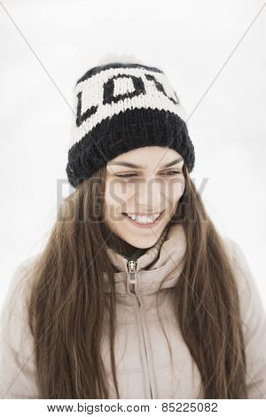 happy young woman with