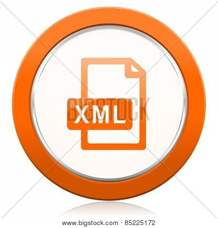 xml file orange icon