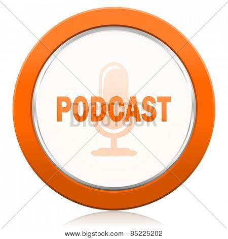 podcast orange icon