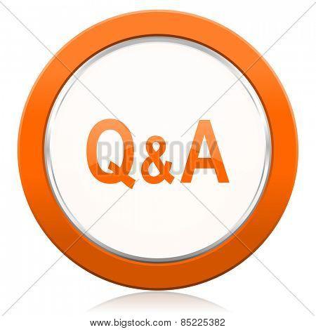 question answer orange icon