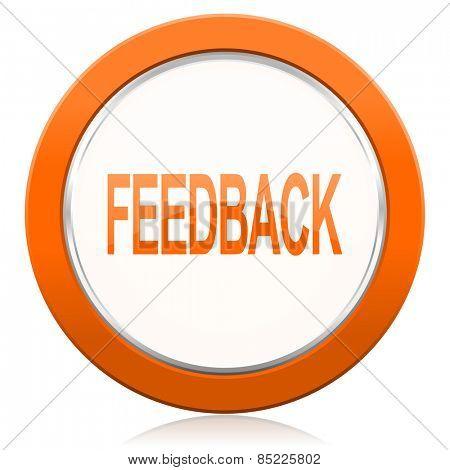 feedback orange icon