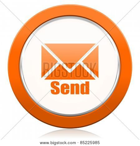 send orange icon post sign