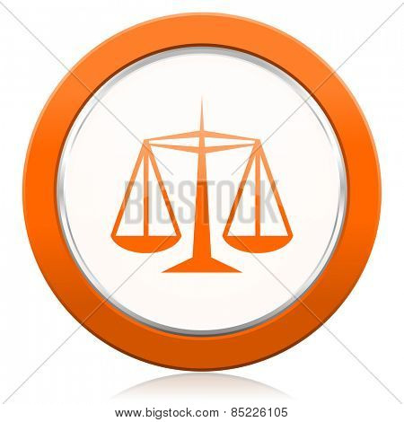 justice orange icon law sign