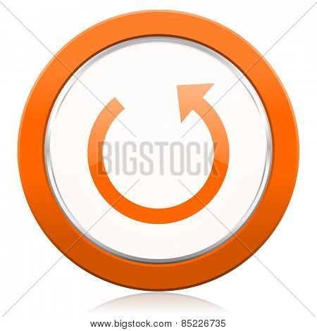 rotate orange icon reload sign