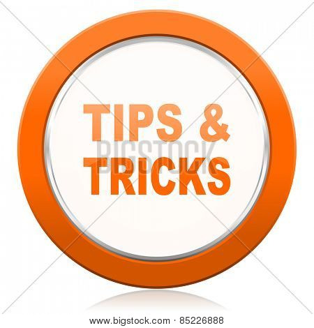 tips tricks orange icon