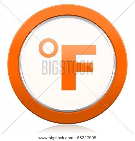 fahrenheit orange icon temperature unit sign
