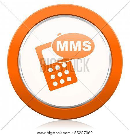 mms orange icon phone sign