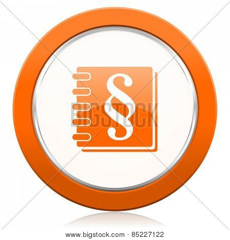 law orange icon