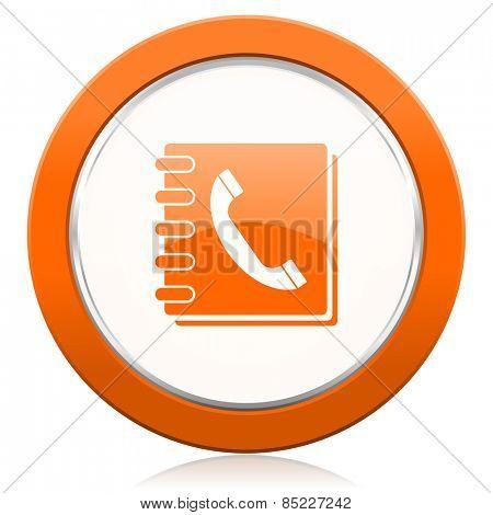phonebook orange icon
