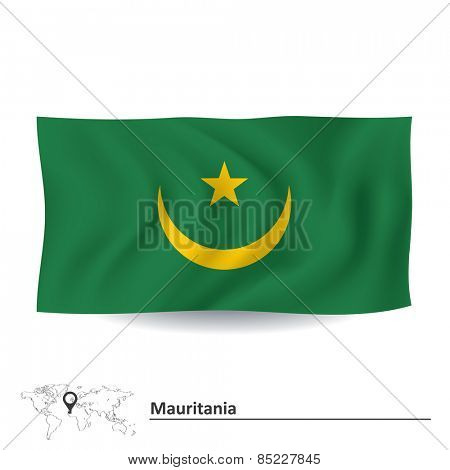 Flag of Mauritania - vector illustration