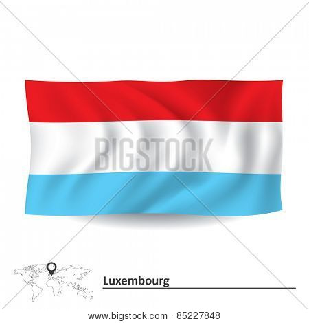 Flag of Luxembourg - vector illustration