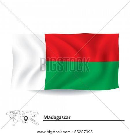 Flag of Madagascar - vector illustration