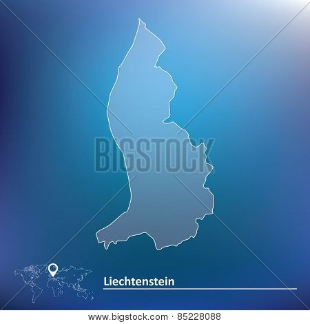 Map of Liechtenstein - vector illustration