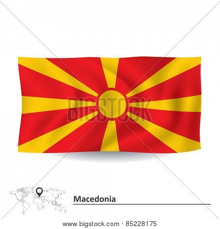 Flag of Macedonia - vector illustration