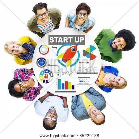 Diversity People Team Start Up Creativity Goals Vision Concept