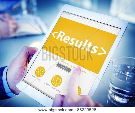 Digital Online Results Outcome Effect Product Browsing Concept