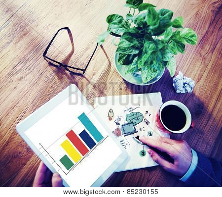 Analysis Analytic Business Marketing Graph Growth Concept