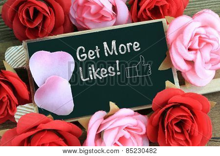 get more likes message