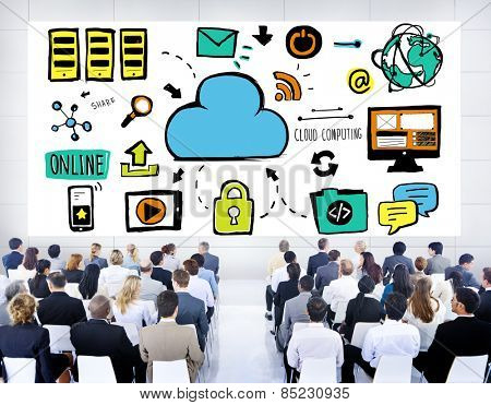 Business People Cloud Computing Seminar Conference Concept