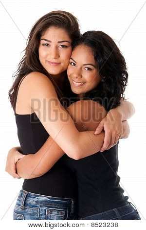 Best Friends - Hugging Women
