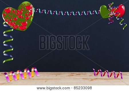 Decoration With Hearts And Streamers