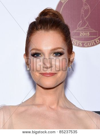 LOS ANGELES - FEB 14:  Darby Stanchfield arrives to the Make-Up Artists & Hair Stylists Guild Awards 2015  on February 14, 2015 in Hollywood, CA