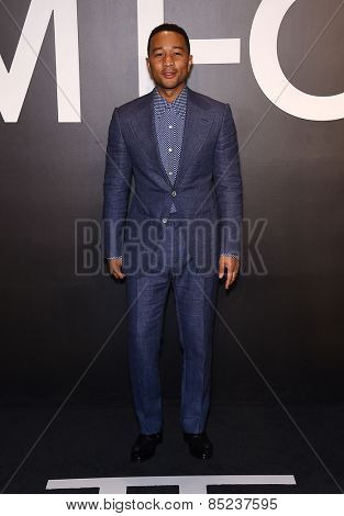 LOS ANGELES - FEB 20:  John Legend arrives to the Tom Ford Autumn/Winter 2015 Womenswear Collection Presentation  on February 20, 2015 in Hollywood, CA
