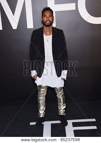 LOS ANGELES - FEB 20:  Miguel arrives to the Tom Ford Autumn/Winter 2015 Womenswear Collection Presentation  on February 20, 2015 in Hollywood, CA