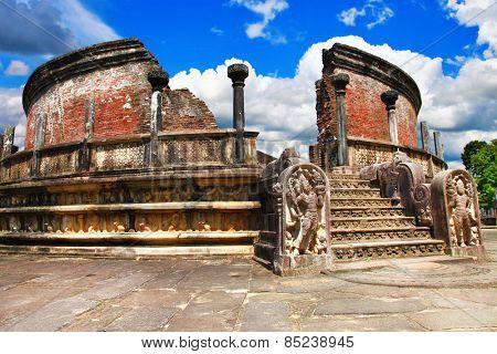 ancient Polonnaruwa temple - medieval capital of Ceylon,UNESCO W