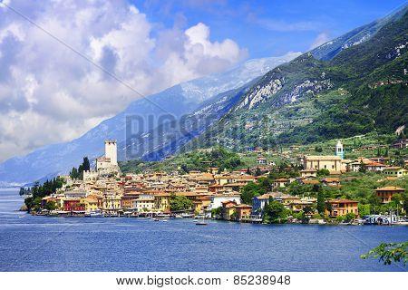 lago di Garda, pictorial Malcesine town