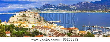 panoramic view of Calvi, Corsica