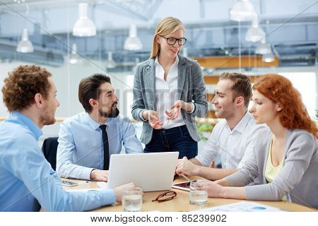 Group of people sitting at discussion