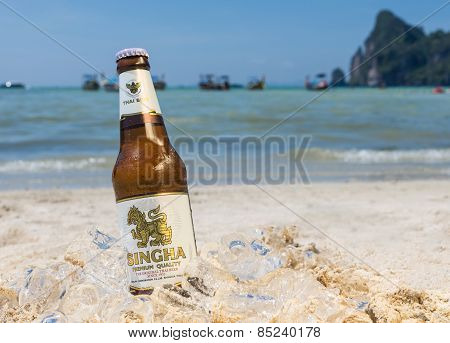 Singha Beer On The Beach