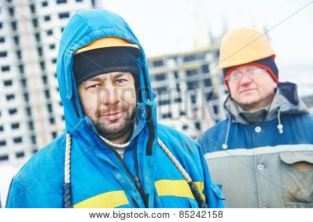 construction manager or building site workers