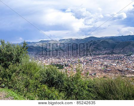 View To Old Incan City Of Cuzco