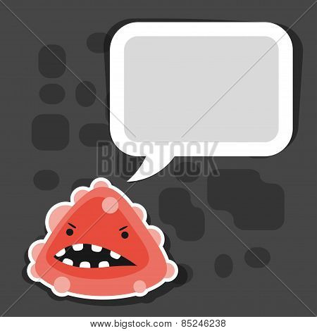 Background with little angry virus or monster.