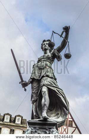 Justitia, A Monument In Frankfurt, Germany
