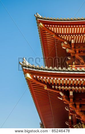 Shinto Shrine Or Japanese Temple's Roof, Japan