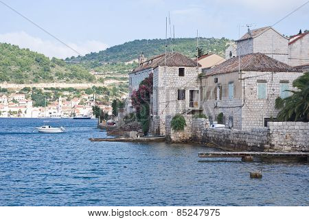 Beautiful Bay On Vis Island, Croatia